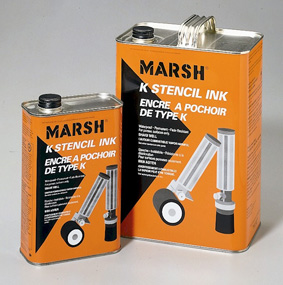 Marsh K Stencil Ink - US Gallon - Black