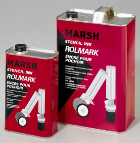 Marsh Rolmark Ink - US Gallon - White